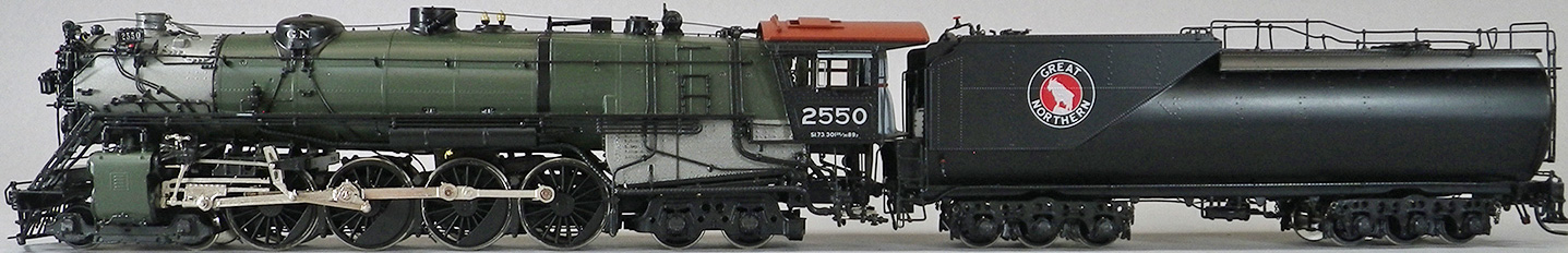 Great Northern Model Train Engine and Car