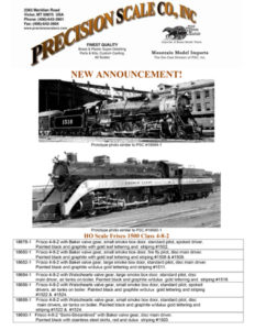 HO Scale Frisco 1500 Class 4-8-2