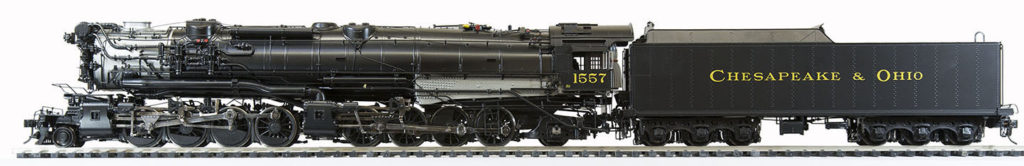 The O Scale C&O H-7 and H-7A 2-8-8-2 Train Model