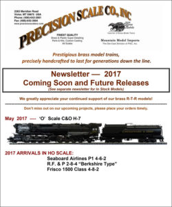Model Train March 2017 Newletter