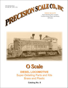 O Scale Diesel Locomotive Train Parts and Kits Catalog