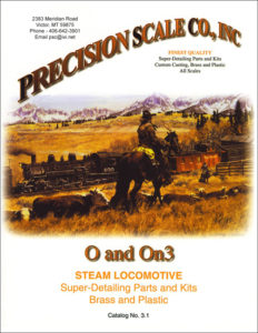 O and On3 Steam Locomotive Train Parts and Kits Catalog