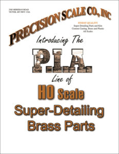 PIA line of HO scale brass train parts catalog