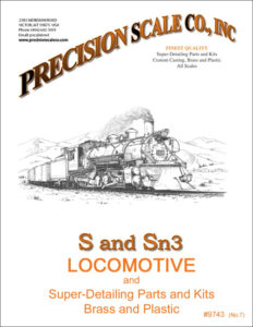 S and Sn3 Locomotive Train Parts and Kits Catalog