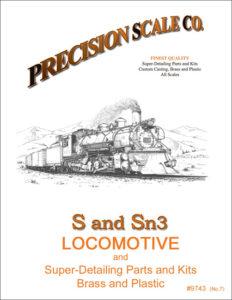 S and Sn3 Locomotive Train Parts and Kits Catalog